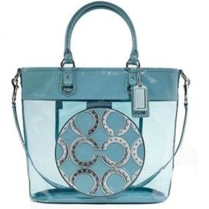LIMITED EDITION TRANSPARENT COACH TOTE